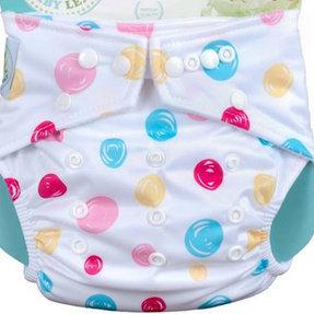 Babyland Dots on White Diaper