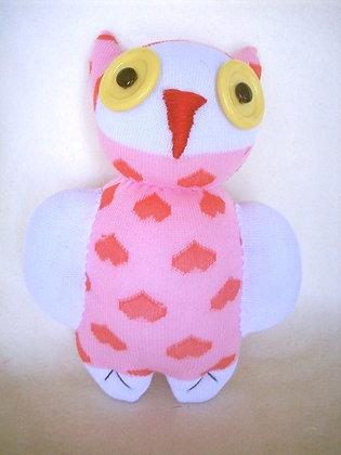 Pink Owl Sock Animal
