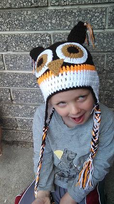 Chocolate Owl Crochet Hat