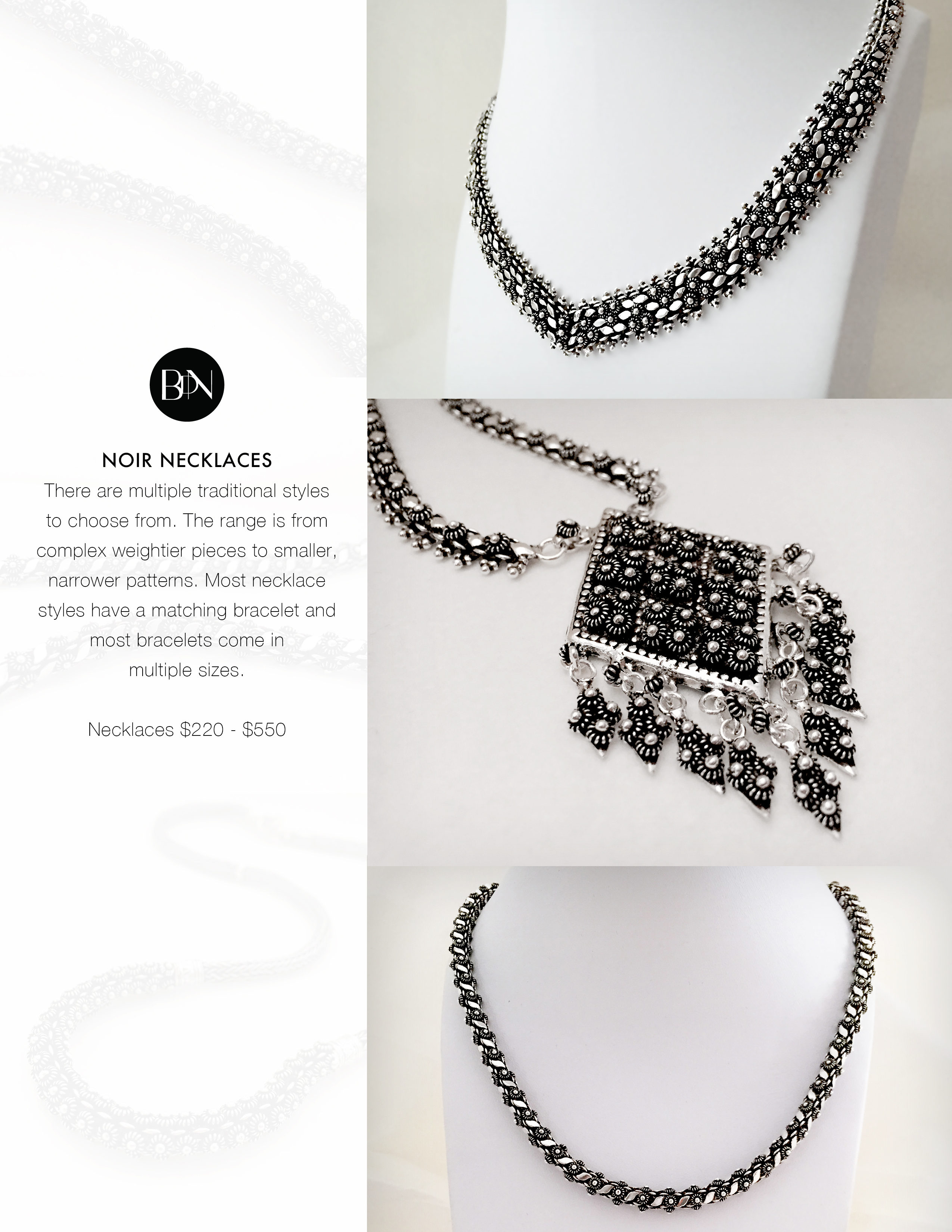 The Noir Collection - Necklaces I