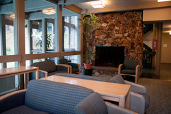 Clubhouse Seating & Fireplace