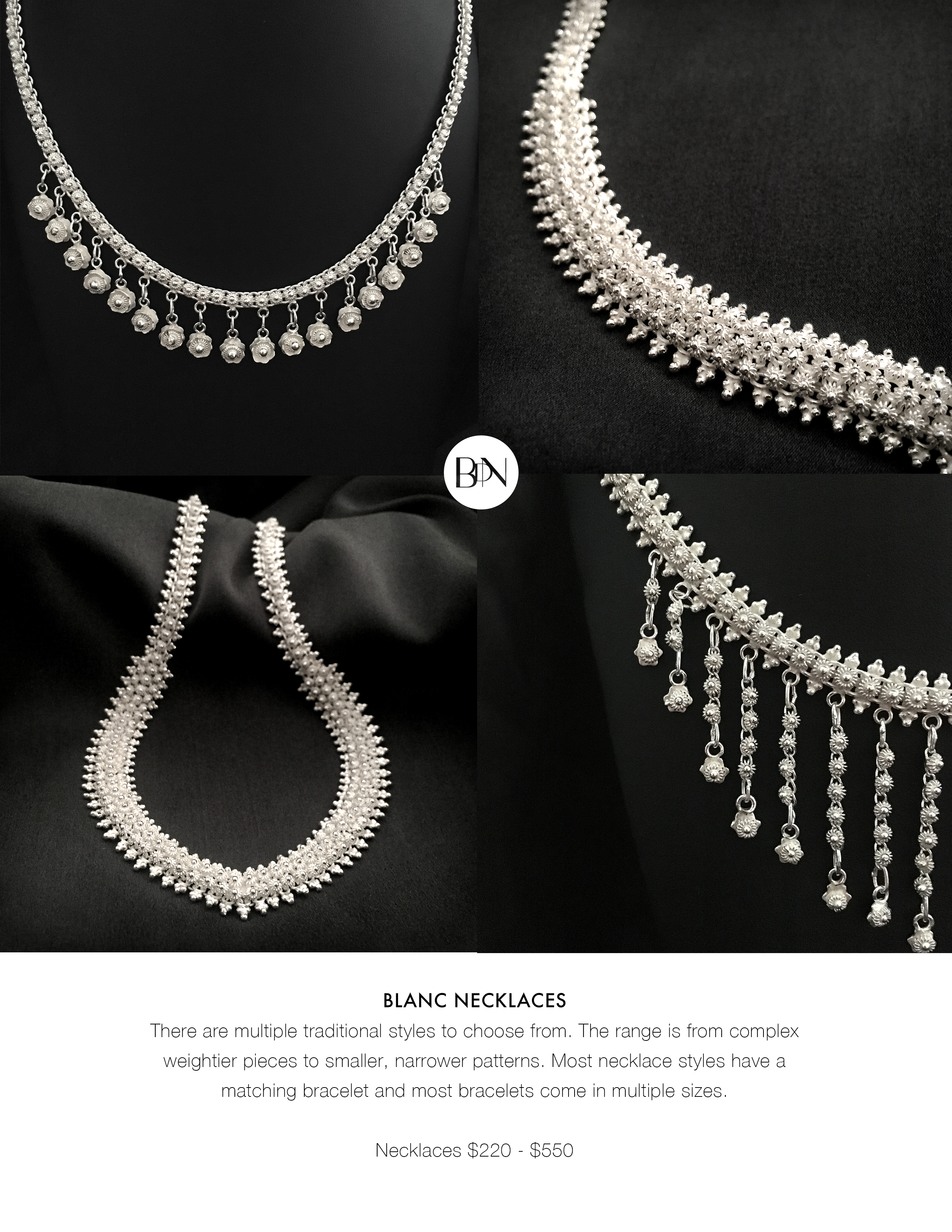 The Blanc Collection - Necklaces I