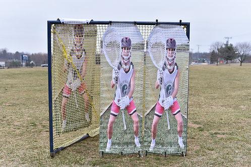 2.0 Girls Lacrosse Target: 2 panels