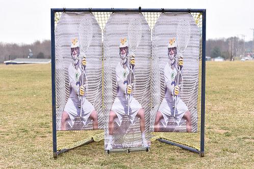 2.0 Boys Lacrosse Target: 3 panels - FREE shipping