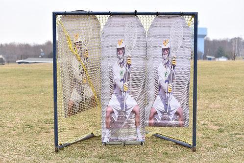 2.0 Boys Lacrosse Target: 2 panels