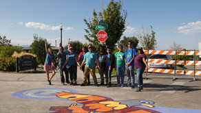 Block Party & Intersection Mural Painting in Westwood