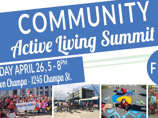 Speakers Announced: Community Active Living Summit