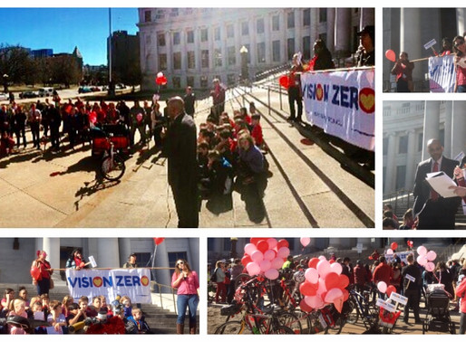 Love for Safe Speeds was in the air at the Vision Zero Valentine's Day Love-in