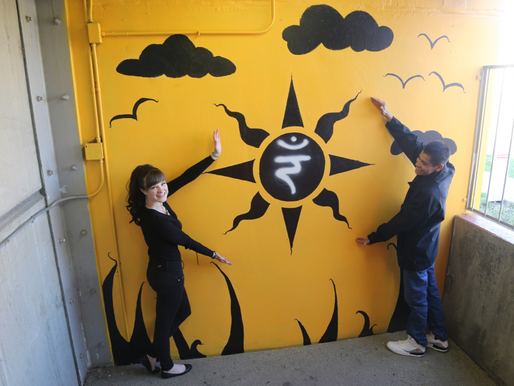 Take the Stairs - to new murals at Denver Public Health