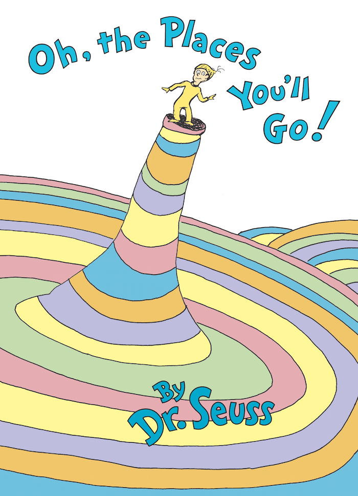 "Front Cover of the book ""Oh, the Places You'll Go!"""