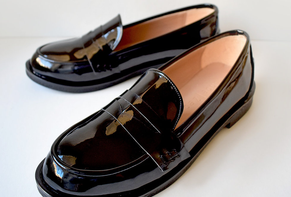 Patent Black Loafers