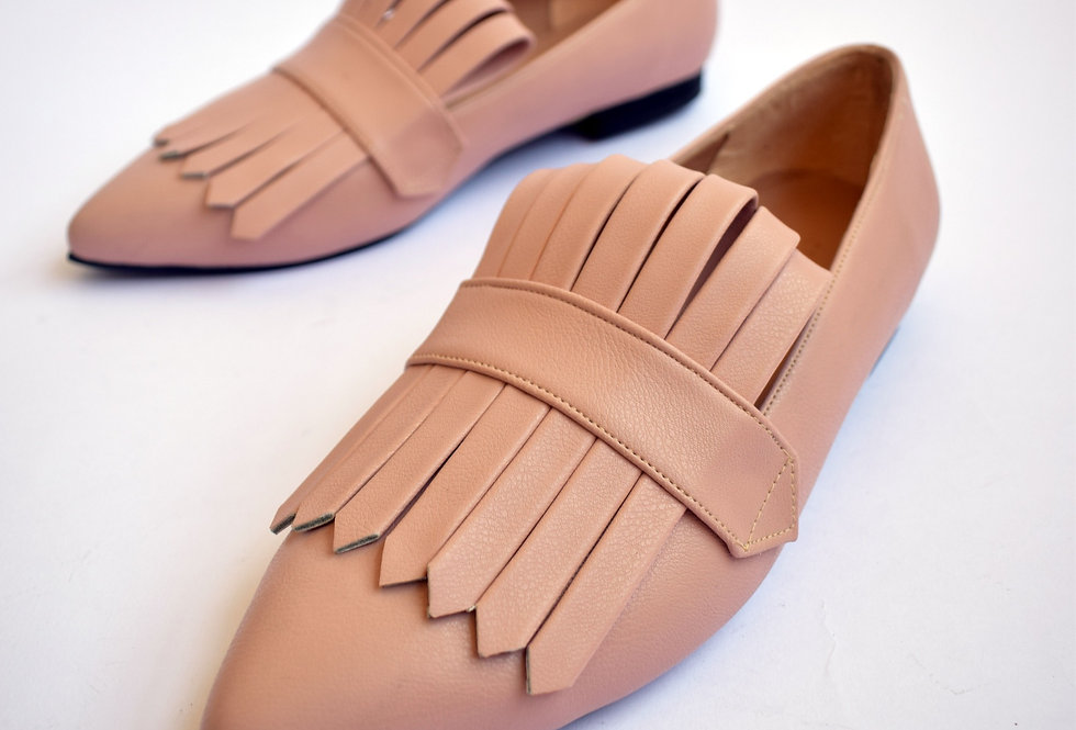 Powder Pink Met Gala loafers