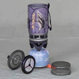 Jet Boil stove with coffee press
