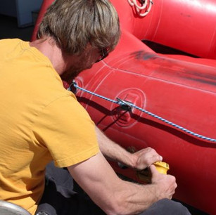 Prepping the boat