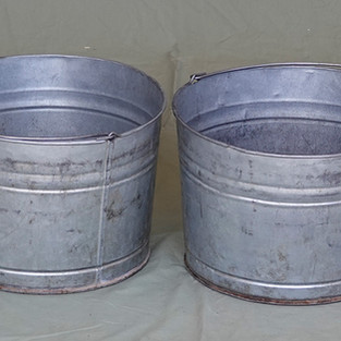 Metal Dish Buckets