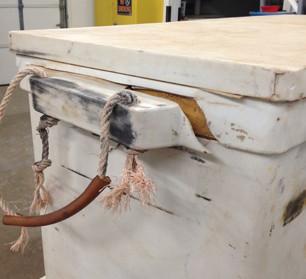 Cooler repair – Before