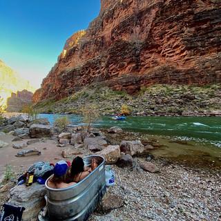 Hot Tubbing in Grand Canyon by Matt Porebski