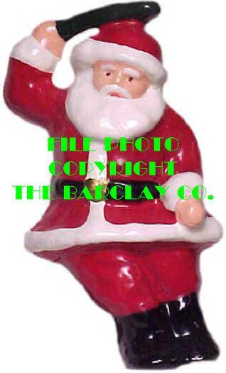 #4011 - Santa Sitting W/Holly Spri