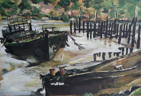 Cimetière de bateaux de Kerhervy