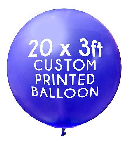 20 x 3ft Balloon, 1 colour, 1 side