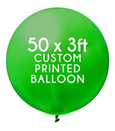 50 x 3ft Balloon, 1 colour, 1 side