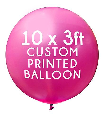 10 x 3ft Balloon, 1 colour, 1 side