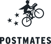 Postmates Logo. It's a link that goes to Postmates website to place a delivery order.