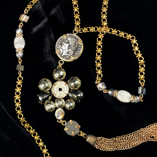 Rhinestones & Coins - $180