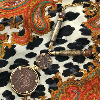 Antique Papal Coin Necklace - $190