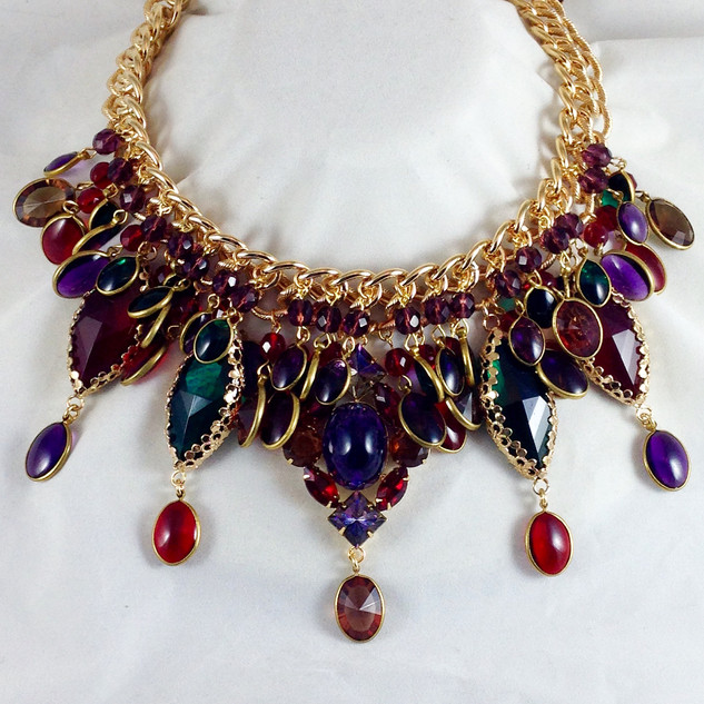 Jewel Tone Necklace - $350