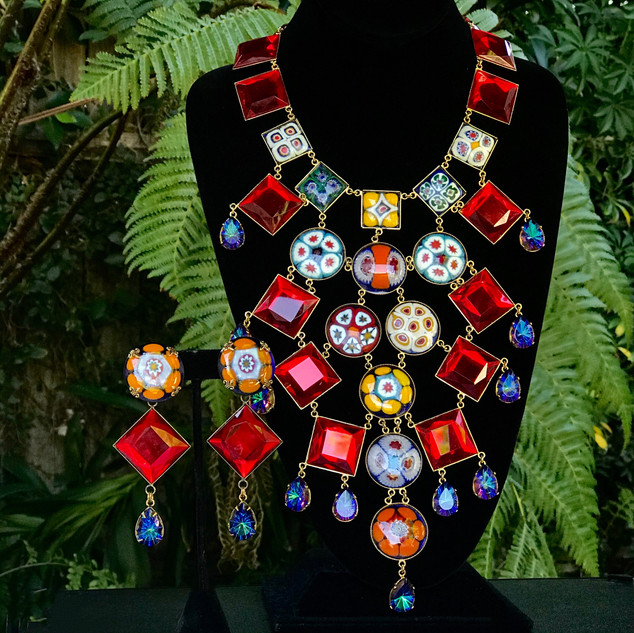 Millefiori Necklace & Earrings - $650