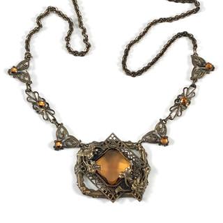 Vintage Czech Necklace - $75