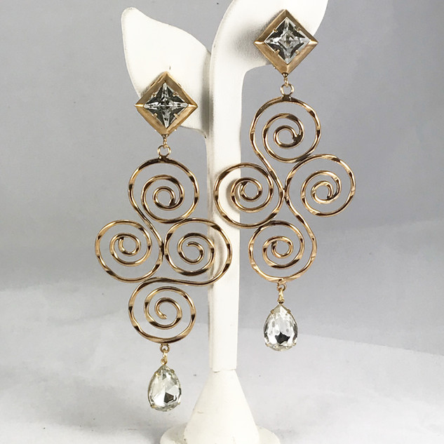 Spirale Earrings - $120