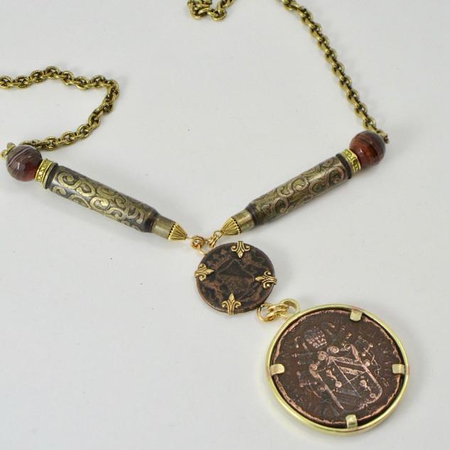 Antique Coins Necklace - $190