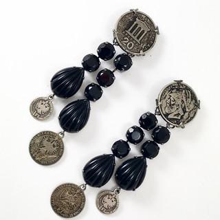 Vintage Coin Earrings - $160
