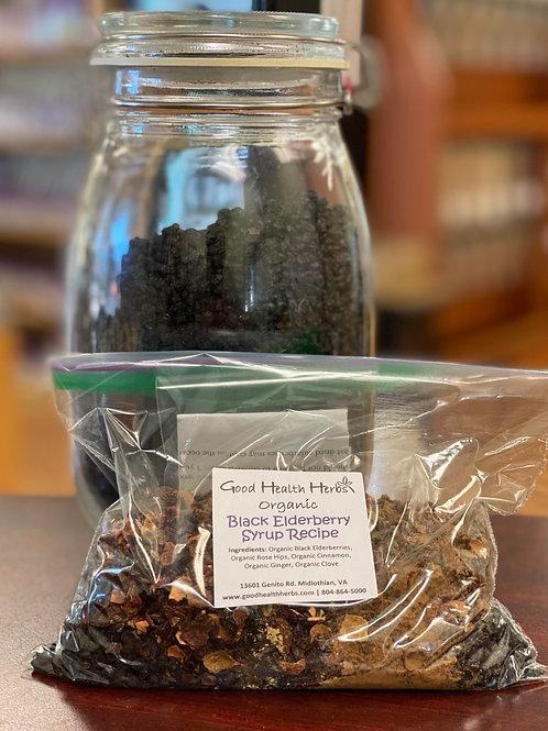 Organic Black Elderberry Syrup Recipe