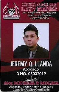 Atty. Jeremy Q. Llanda