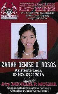 Zarah Denise O. Rosos