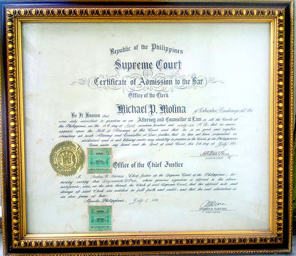 Certificate of Admission to the Philippine Bar, Integrated Bar of the Philippines, attorney license