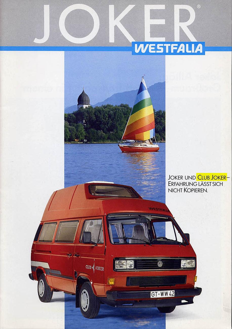 vw bus bulli t3 camper t3 westfalia vw t3 vw bus camper westfalia joker prospekt. Black Bedroom Furniture Sets. Home Design Ideas