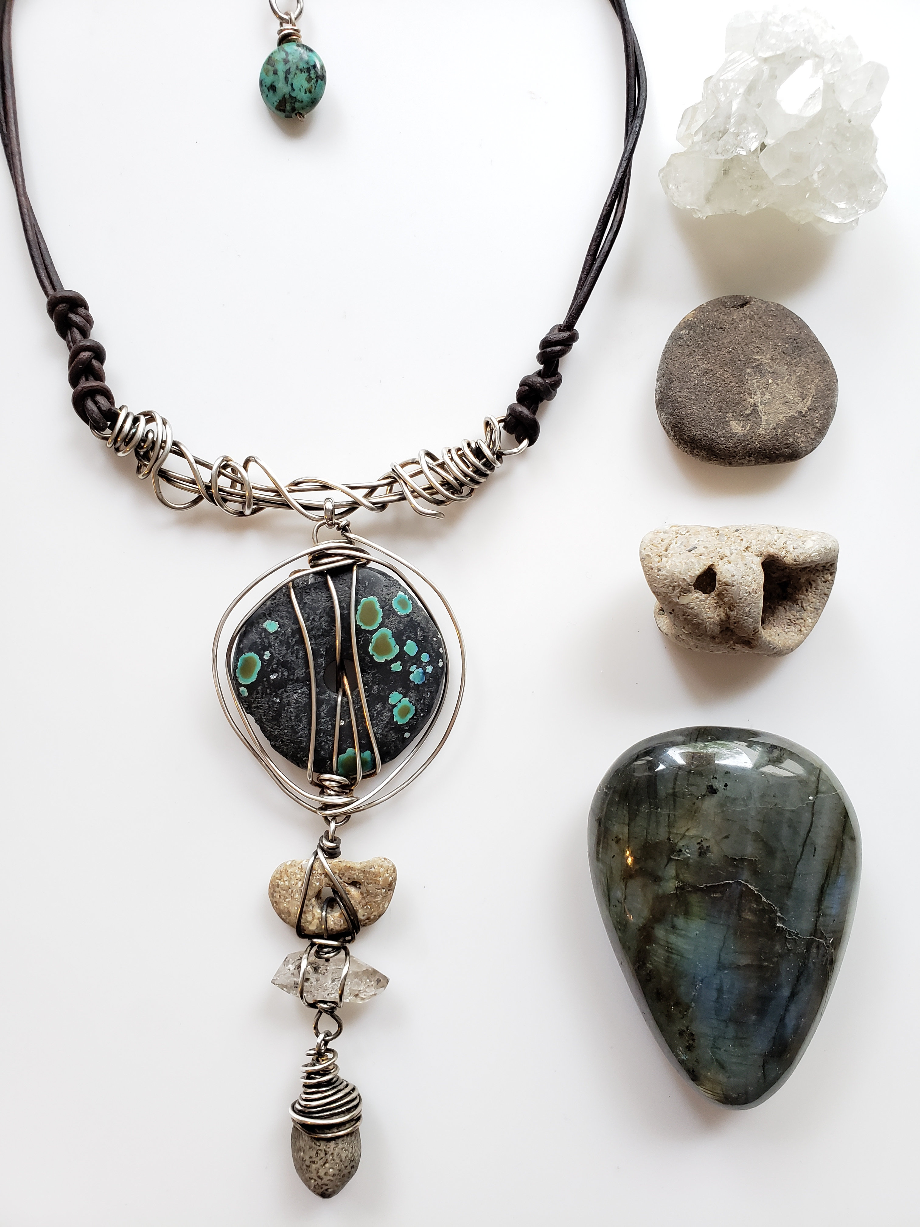 Talisman Of The Traveler Turquoise Hagstone Quartz And Fossil Necklace Stacilouise Discover a diverse selection of high quality, authentic fossils at great prices. talisman of the traveler turquoise hagstone quartz and fossil necklace stacilouise