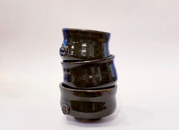 Ebony Bowls - Set of 3