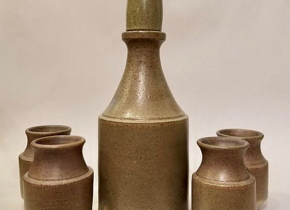 Whisky Bottle and Cups