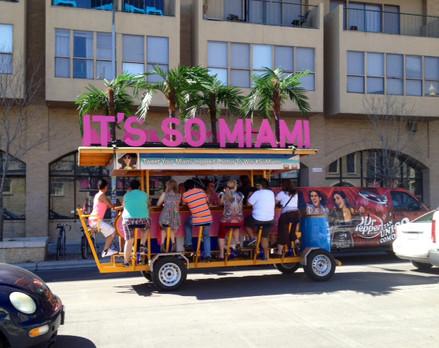 Miami Tourism Pedal Pub Activation at SXSW