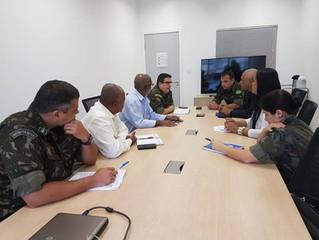 Galeria de Herois se reúne com o Gabinete de Intervenção Federal.