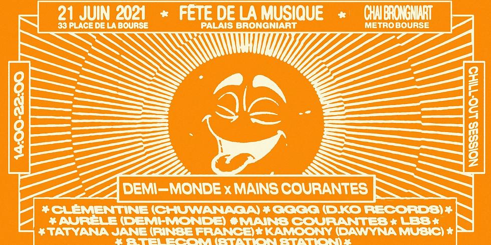 Demi-Monde x Mains Courantes : Fête de la Musique 2021 (Home-Made Sound System)