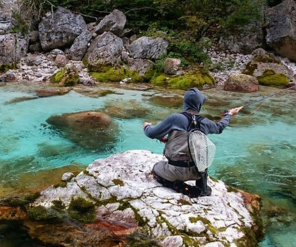 video of fly fishing in Slovenia