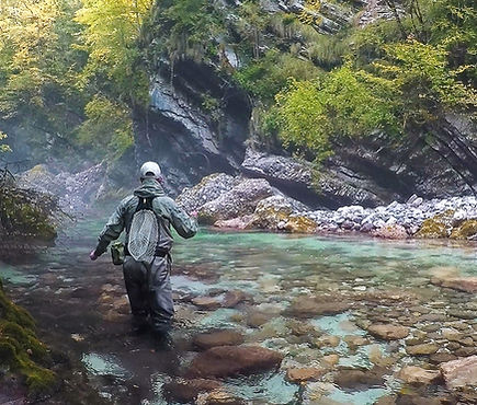 Lesly Janssen. Fly fishing and Tenkara guide north west Slovenia
