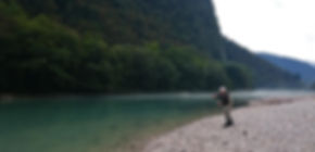 fly fishing casting lessons on Soca river