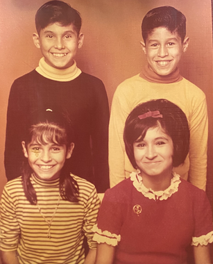 Terri and brothers Ray, Jay and sis Susa
